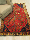 Red Traditional Shiraz Rug, 4'3 x 6'6