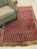 Rust Traditional Shiraz Rug, 4' x 5'5