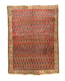Hand-knotted Wool Rust Traditional Oriental Shiraz Rug (4' x 5'5)