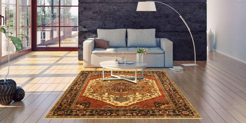 EORC P10BIV IVORY HAND KNOTTED WOOL IVORY SERAPI RUG