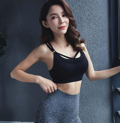 Womens Seamless Sports Bra Top