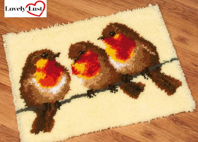 3 Birds Rug Latch Hooking Kit
