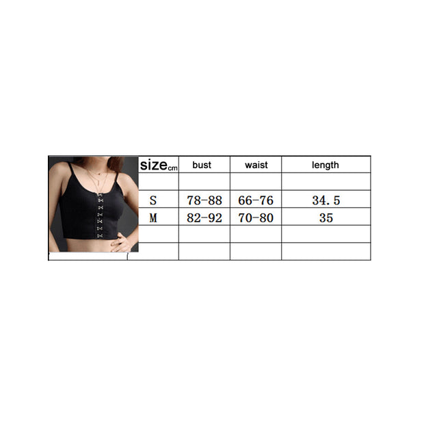 Fashion Solid Color Camisole Slim Fit Crop Top Women Summer Spaghetti Strap Vest