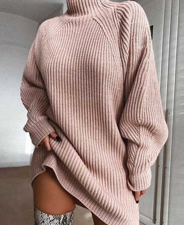 Women Long Sleeve Turtleneck Sweater