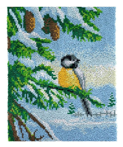 Winter Bird Rug Latch Hooking Kit