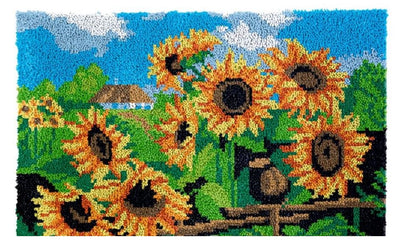 Sunflower Field Rug Latch Hooking Kit