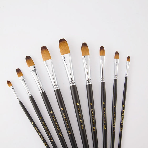 Paint by Numbers Brushes (Set of 9)