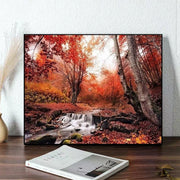 Autumn Forest Paint by Numbers (50x40 no frame)