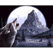 Wolf Paint by Numbers Kit