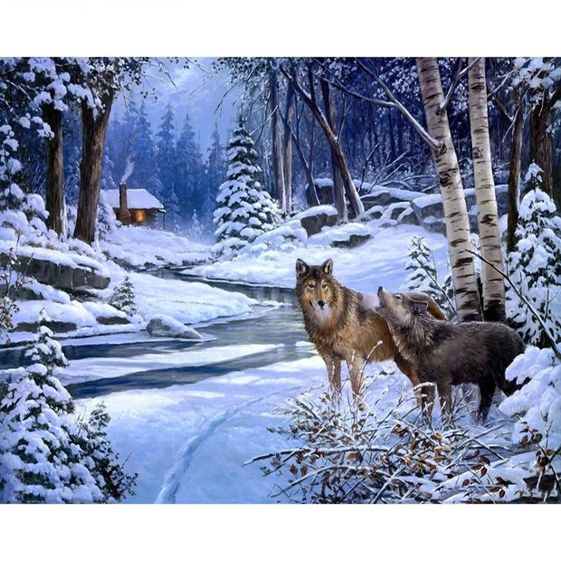 Snow Wolf Paint By Numbers