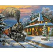Train at Christmas Paint By Numbers