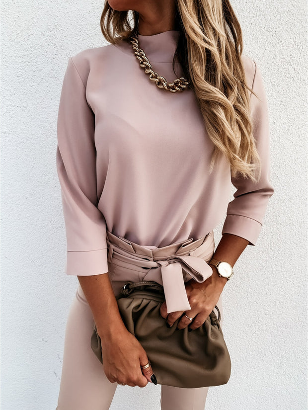 Women's Long Sleeve Casual Chiffon Top