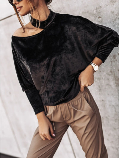 Women Elegant Velvet Top