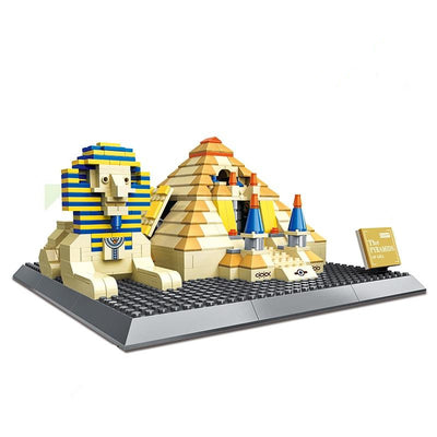 Egyptian Giza Pyramids Landmark Building Blocks