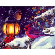 Christmas Cardinals Paint By Numbers