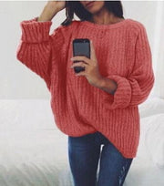 Women's Knitted Long Pullover Turtleneck Casual Sweater