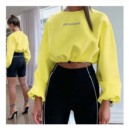 Women's Drawstring Hem Sweatshirt