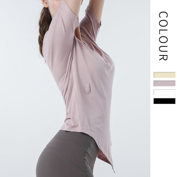 Women V-neck Yoga Workout Top