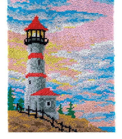 Sunrise Lighthouse Rug Latch Hooking Kit