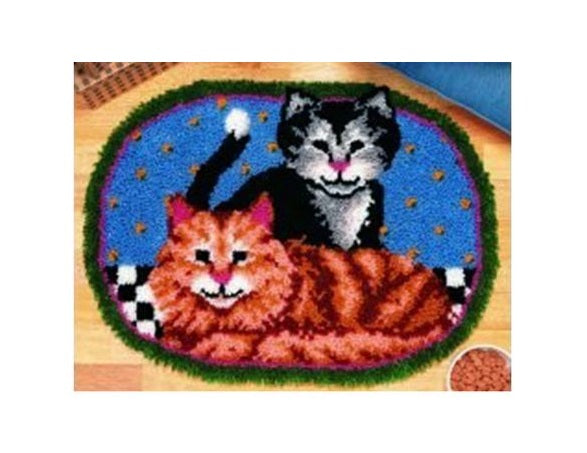 Adult Cats Rug Latch Hooking Kit