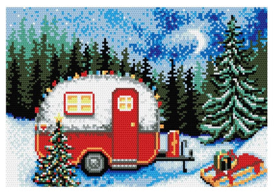 Winter Scene Rug Latch Hooking Kit