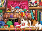 Cats Playing with Yarn Diamond Painting