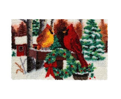 Christmas Cardinals Rug Latch Hooking Kits