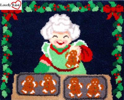Chrismas Cookies Rug Latch Hooking Kit