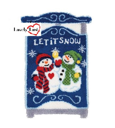 Christmas Let It Snow Rug Latch Hooking Kits