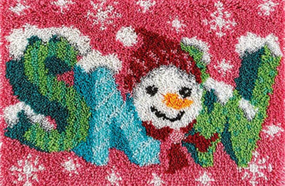 Christmas Snow Rug Latch Hooking Kit
