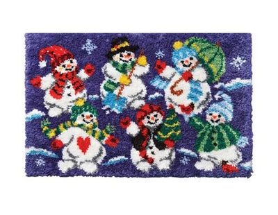 Christmas Snowmen Rug Latch Hooking Kits