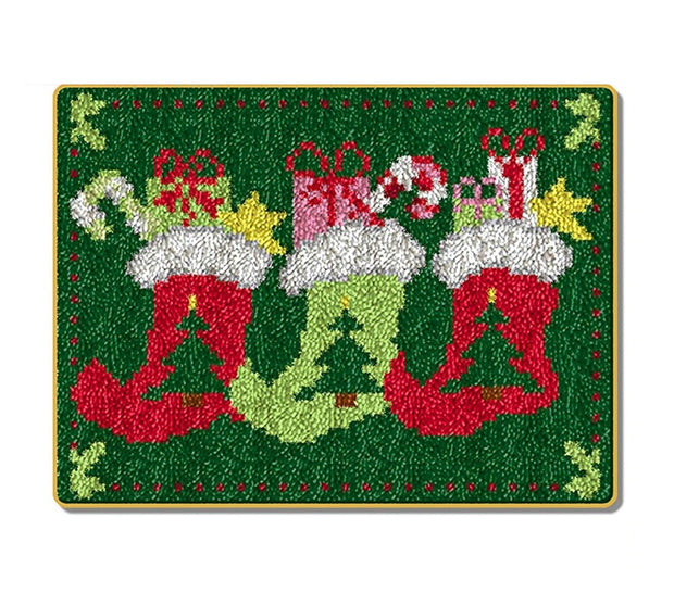 Christmas Stockings Rug Latch Hooking Kits