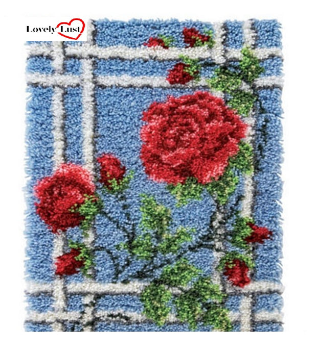 Climbing Roses Rug Latch Hooking Kit