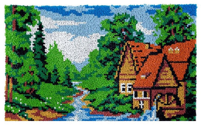 Dream Cottage Rug Latch Hooking Kit (85x58cm)