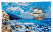 Sail Boat Rug Latch Hooking Kit