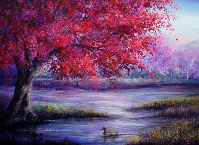 Fall Colors Landscape 5D Square Diamond Painting Kit