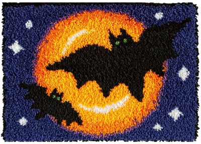 Halloween Bats Rug Hooking Kit
