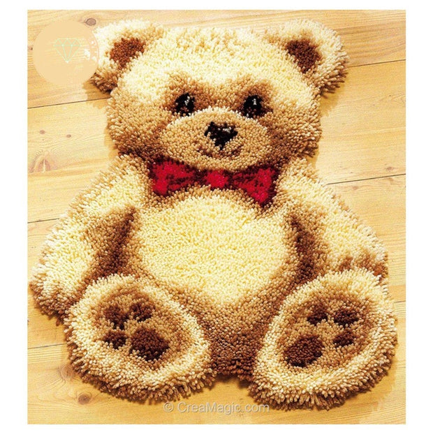 Cartoon Teddy Bear Latch Hook Rug Kit