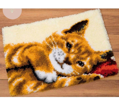Cartoon Cat Latch Hook Rug Kit