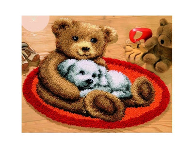 Cartoon Bear Latch Hook Rug Kit