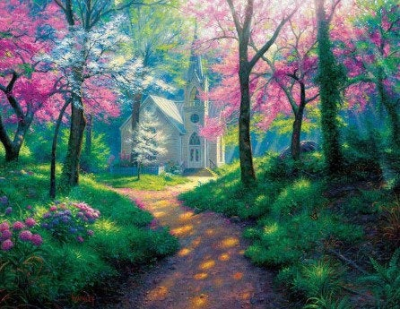 Country Church Paint by Numbers Kit