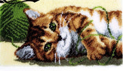 Rug Hooking Kit Cat with Yarn