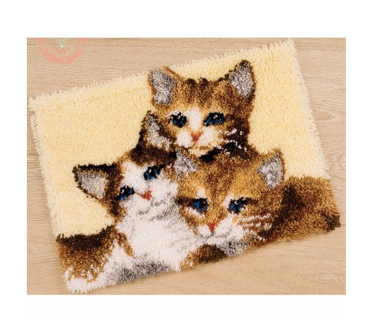 Three Kittens Latch Hook Rug Kit