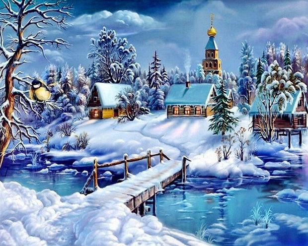 Winter Village Paint By Numbers Kit