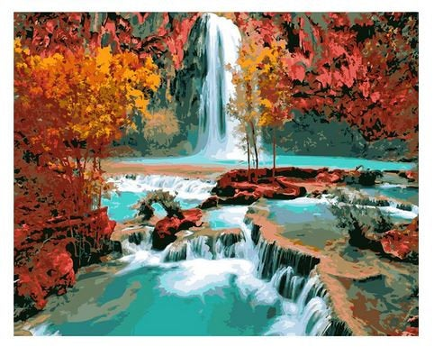 Waterfalls Paint by Numbers Kit