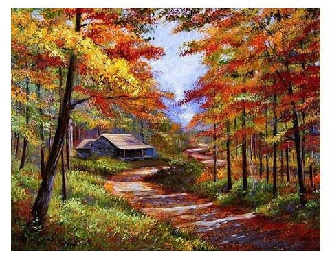 Cabin Woods Paint by Numbers Kit