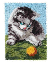 Kitten with Ball Latch Hook Rug Kit