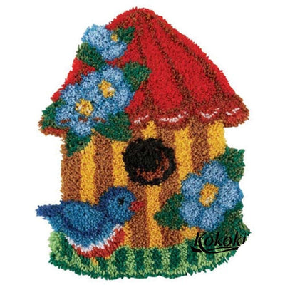 Birdhouse Latch Hook Rug Kit