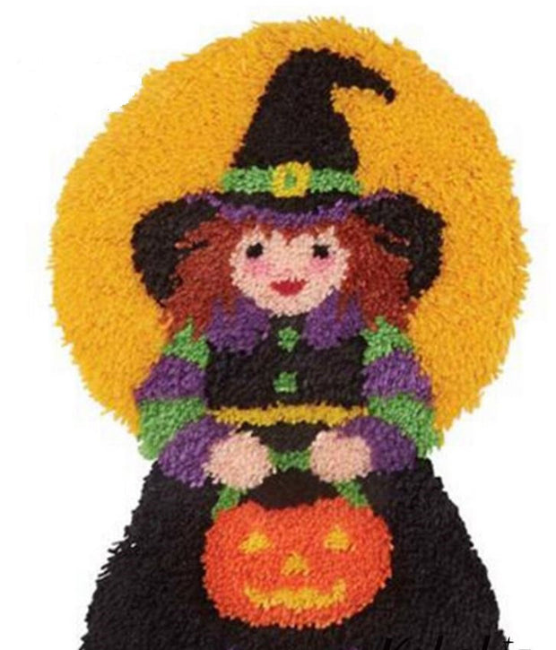 Halloween Witch Latch Hook Rug Kit (30x50cm)