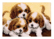 3 Puppies Latch Hook Rug Kit
